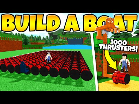I GOT 1000 ULTRA THRUSTERS!!! + How to do it for free! Build a Boat