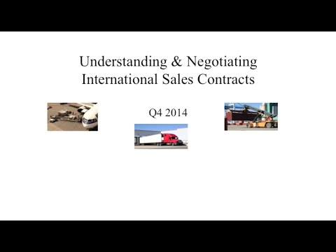 Module 1 - Understanding & Negotiating International Sales Contracts