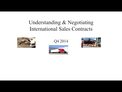 Module 1 - Understanding & Negotiating International Sales Contracts