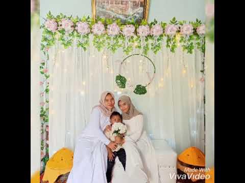 dekorasi backdrop pertama untuk acara nikah - youtube