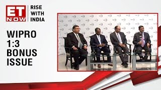 Wipro announces 1:3 bonus issue | Earnings with ET Now