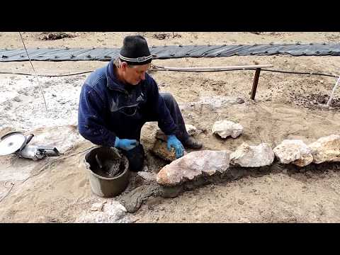 Бордюры для клумб из камня своими руками фото