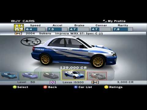 Forza Motorsport 1 All Cars in HD (231 Cars)