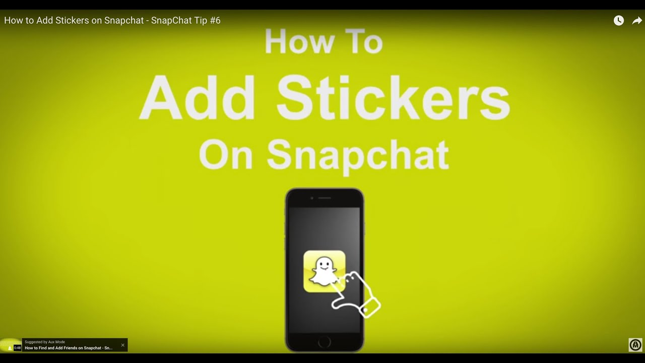 How To Add Stickers On Snapchat  Snapchat Tip #6
