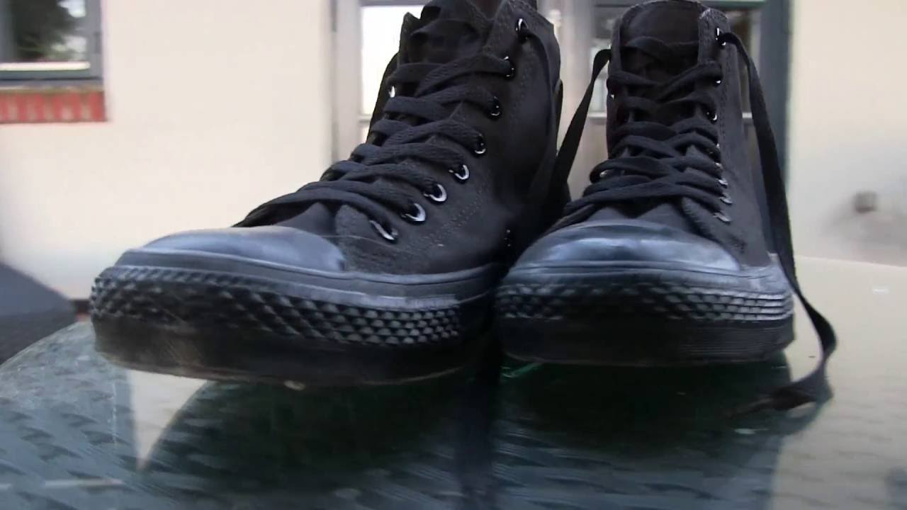 5f3a1fd33930 ... discount converse all star monochrome hi black mono quick review on  feet youtube 82157 dfa78