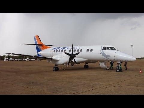 Proflight Zambia BAe Jetsream 41 Amazing Approach and Landing in Lusaka / Zambia