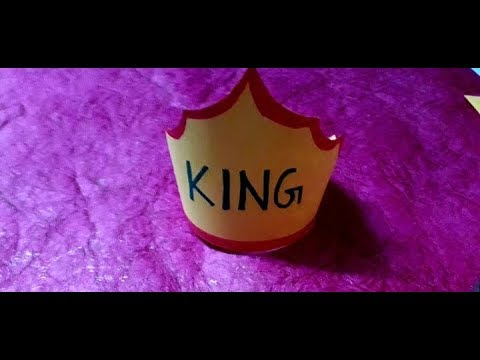 How to make king crown for kids || kids craft