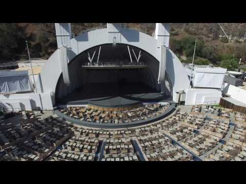 Aerial photography at the Hollywood Bowl 4K