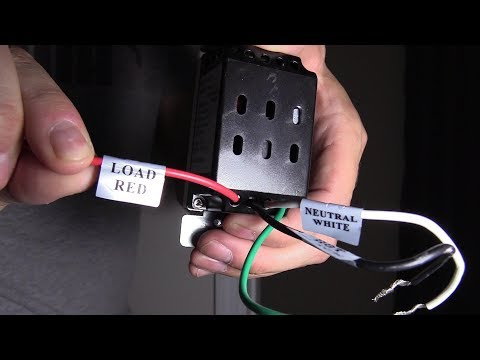 EASY WAY TO WIRE A MOTION LIGHT SWITCH INSTALLATION Ge Security Light Wiring Diagram on