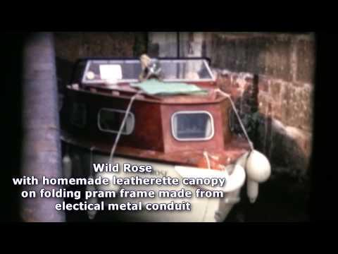 Canal Cruiser DIY build in marine plywood 1970