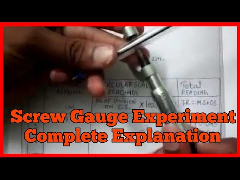 How to take reading observation least count of screw  gauge/hindi/english/physics/11th/12th