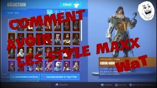 Fortnite*BUG* AVOIR LE STYLE #MAX# DU SKIN #COEUR NOIRE# EN 30 SECONDE FORTNITE S8 (PS4/XBOX ONE/PC)