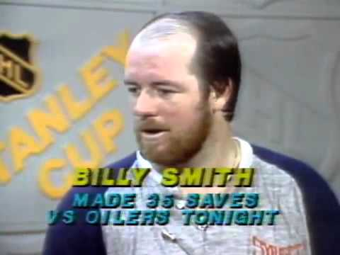 Game 1 1983 Stanley Cup Final Islanders at Oilers Billy Smith Post Game Interview CBC