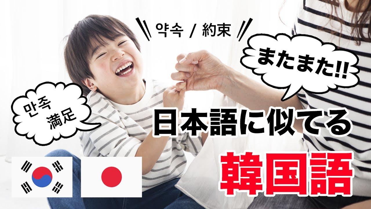 02「韓国語って簡単!?」 日本語とそっくりな韓国語10選✨パート②