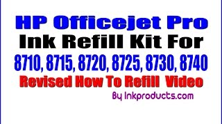 amazing ink refill kit for hp officejet pro 8710 8715 8720 8730 8740