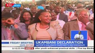 Kalonzo comes out in support of referendum