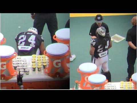 Marshawn Lynch Sits For National Anthem Then Stands For Mexican Anthem Patriots vs Raiders