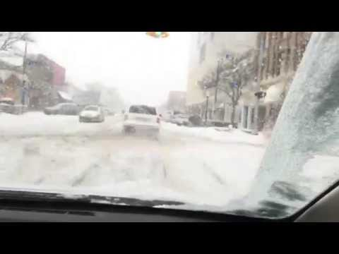 Timelapse video: Driving in Detroit snow storm