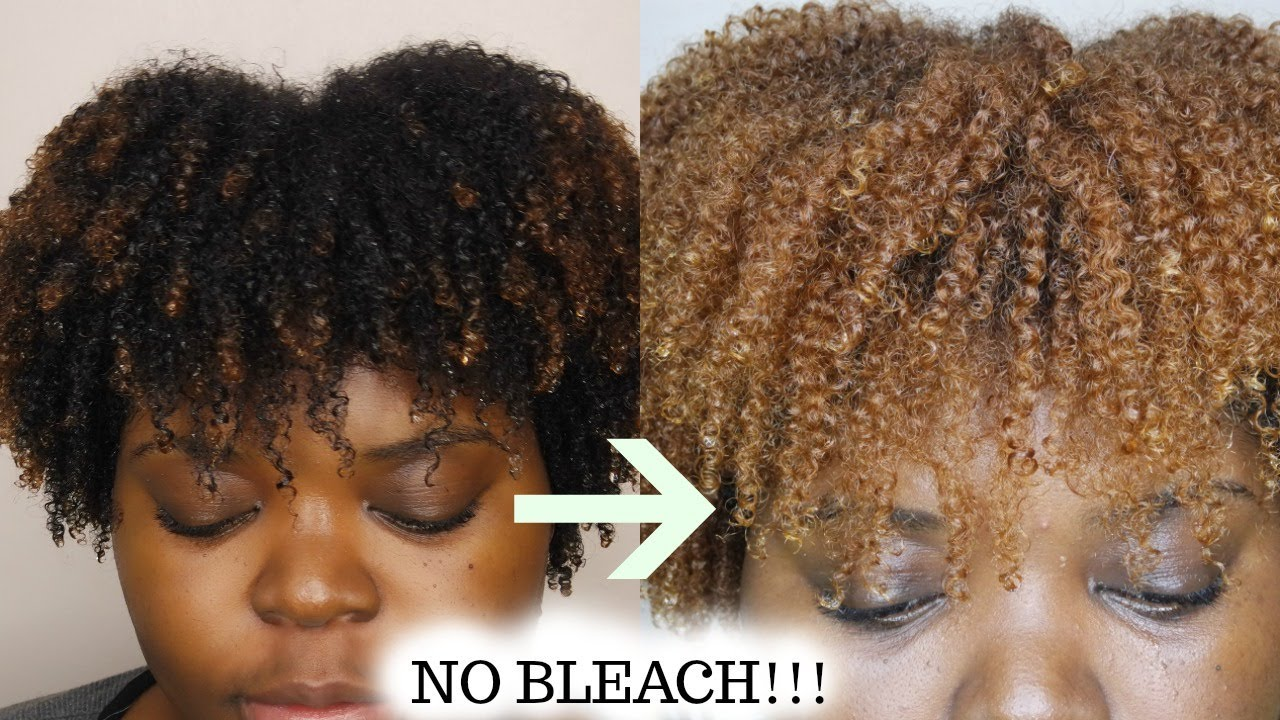 HOW TO DYE NATURAL HAIR BLONDE| CREME OF NATURE - YouTube