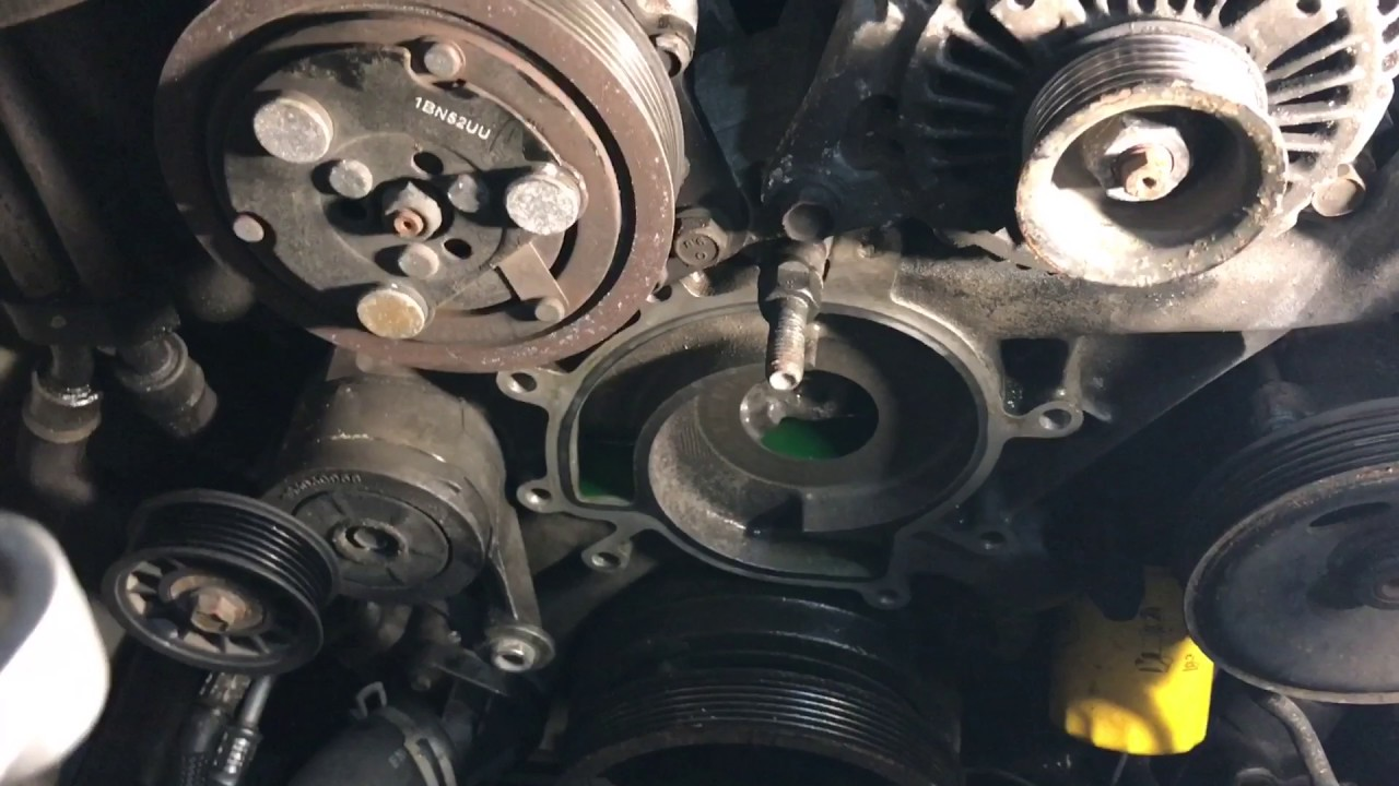 Jeep Liberty water pump replacet with heavy duty cooling - YouTube
