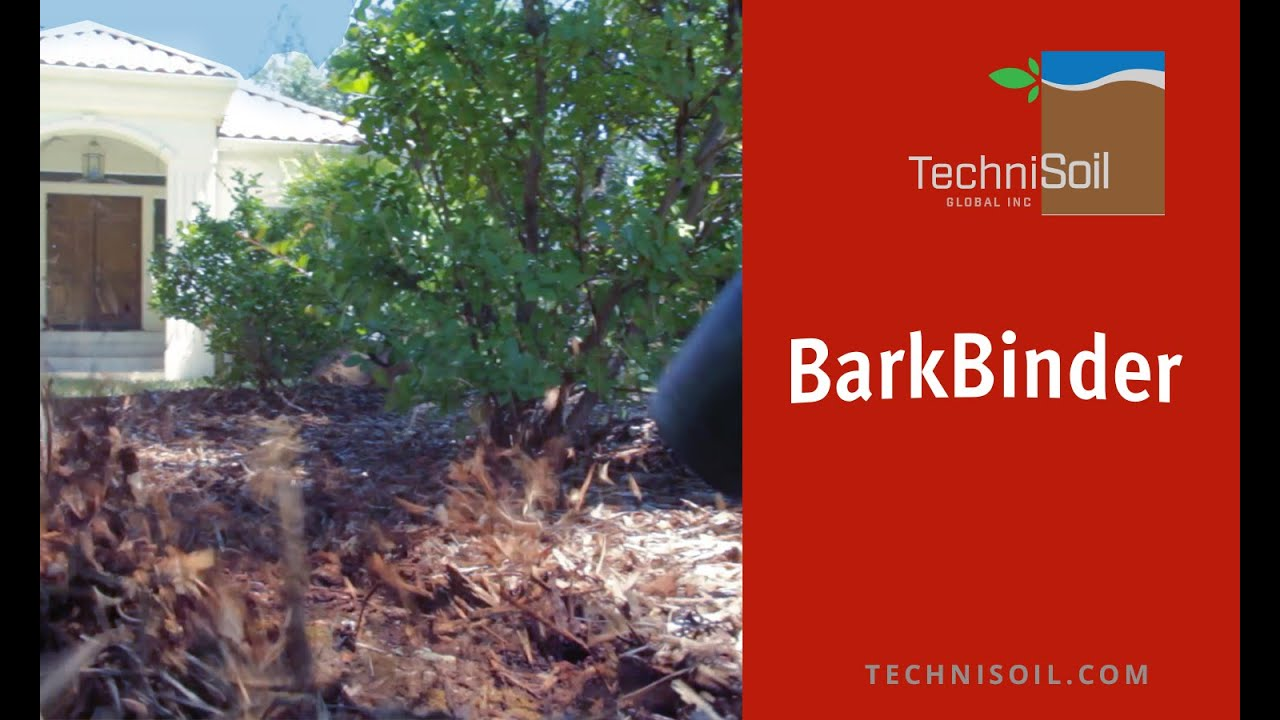 Barkbinder Product Demo Keep Bark And Mulch Ground Cover In