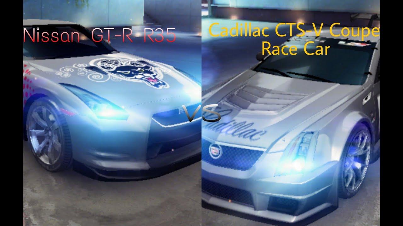 Nissan Gt R R35 Vs Cadillac Cts V Coupe Race Car Asphalt 8 Airbone