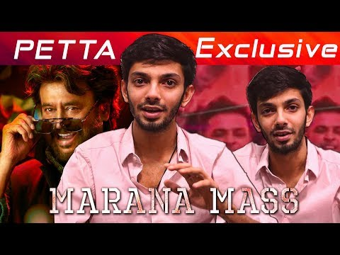 Marana Mass interview with Anirudh | Petta BGM | Superstar Rajinikanth | Sun Pictures