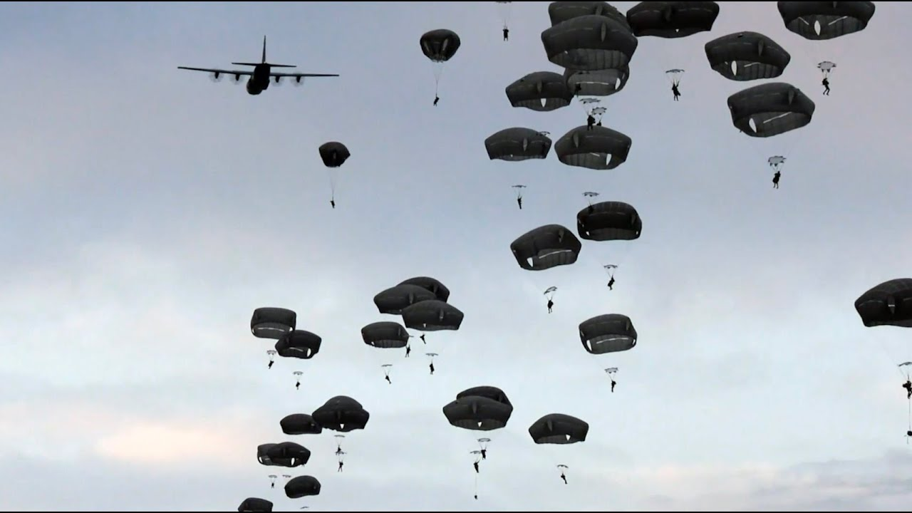 U.S. & Italian Army Paratroopers • Airborne Operations