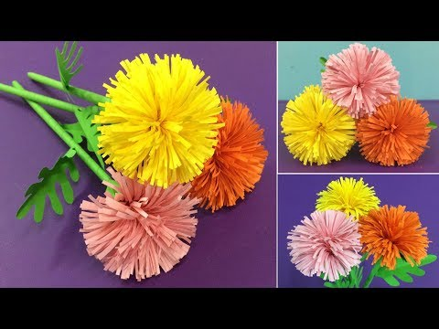 How to Make Paper Marigold Flower   Making Paper Flowers Step by Step   DIY-Paper Crafts