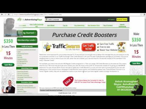 How To Purchase Credit Booster with Ad Funds