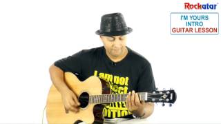 I'm yours Intro Guitar lesson  Sneak Preview