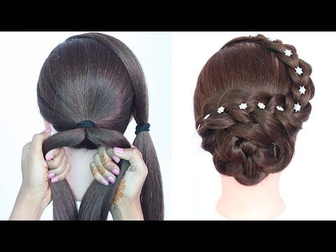 new easy hairstyle with trick ( raksha bandhan special ) || braided hairstyles || updo hairstyle thumbnail