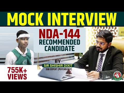 Mock Interview NDA-144 Recommended Candidate | NDA SSB Mock Interview | Centurion Defence Academy