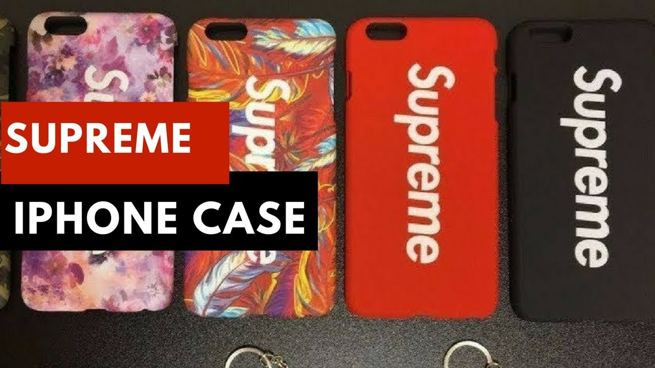 2b4a725cd9a Supreme iPhone 6 6S 7 Plus Box Logo Case Matte Red - YouTube