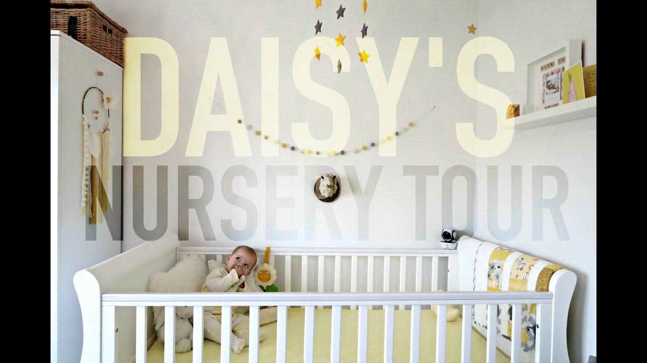 Daisy S Yellow White Grey Nursery Tour Charlotte Taylor
