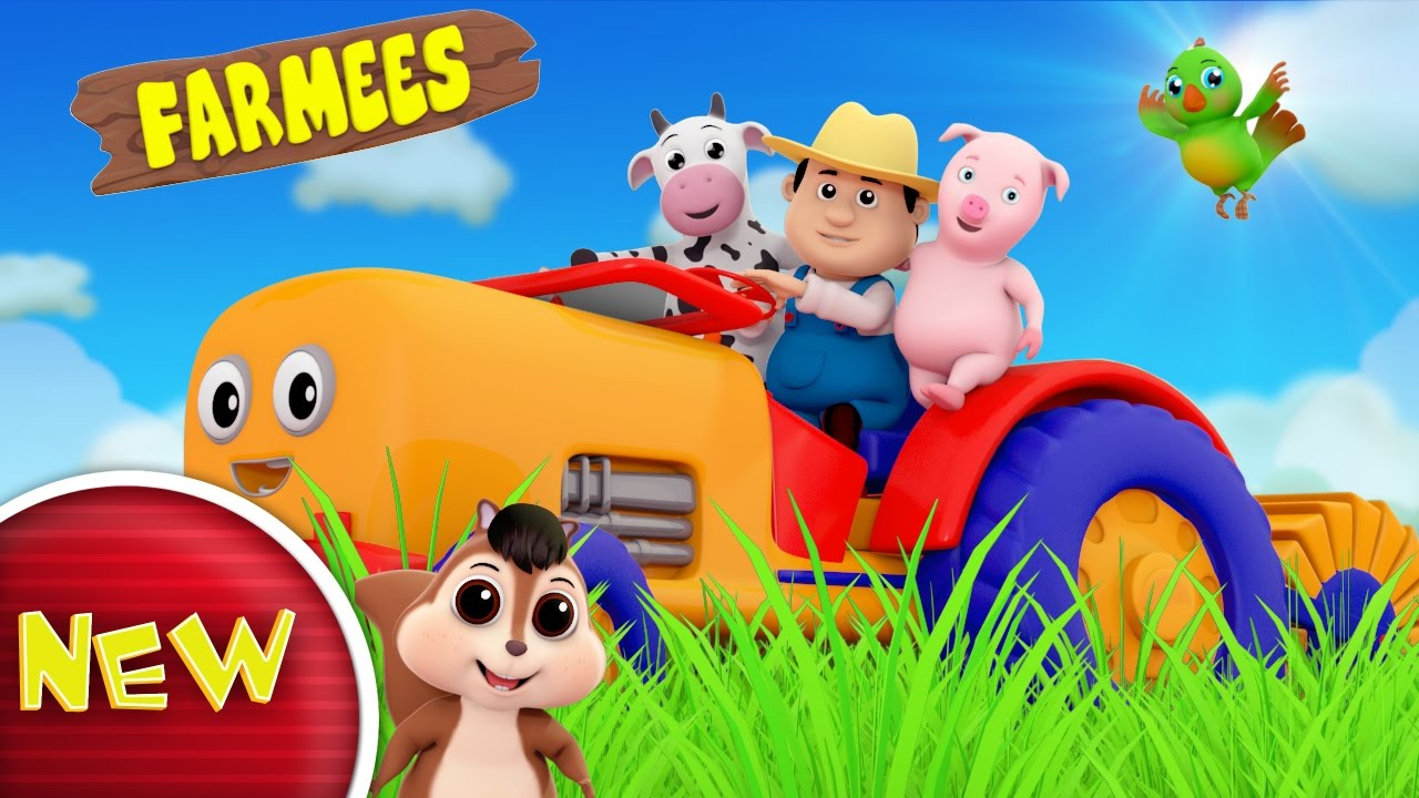 Tractor Song   Nursery Rhymes   Kids Songs   Baby Rhymes by Farmees