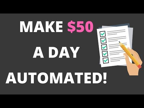How to Make $50 A Day AUTOMATICALLY With Quizzes! {AUTOMATED}