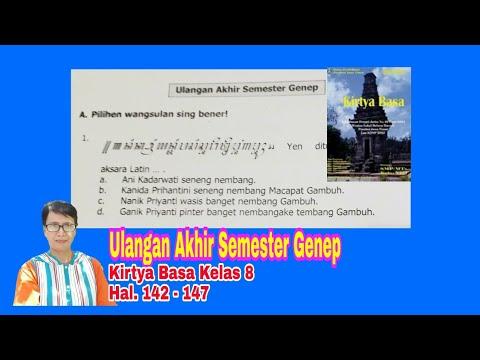 Ulangan Akhir Semester Genep Kirtya Basa Kelas 8 Hal 142 147 Youtube
