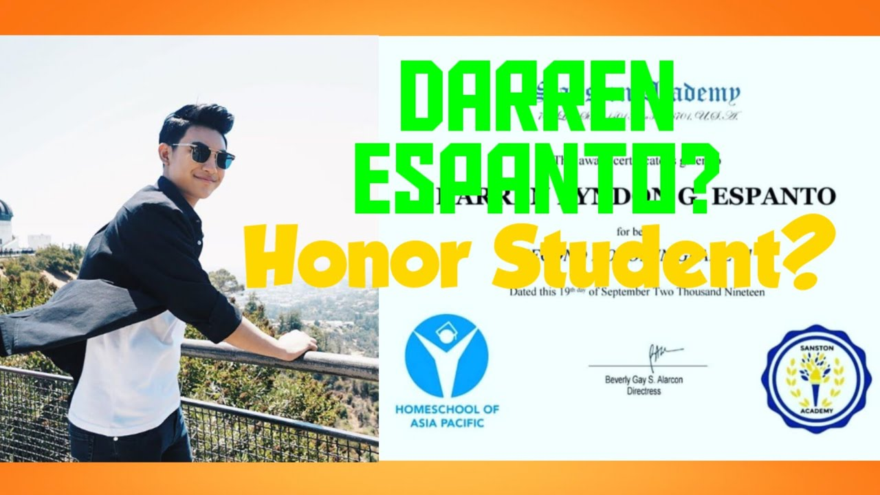 Darren Espanto   Honor Student #HonorStudentDARREN #DarrenEspanto