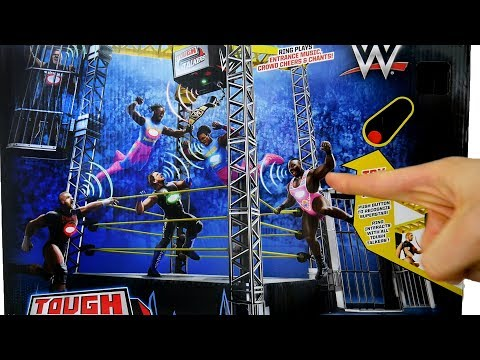 WWE Tough Talkers Championship Takedown Ring Playset Toy Unboxing, Construction & Review!!