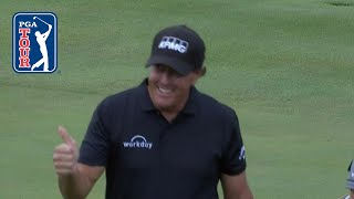 Phil Mickelson nearly aces the par-4 14th at THE CJ CUP 2019