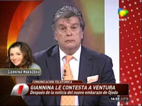 El duro cruce de Gianinna Maradona con Luis Ventura en Intrusos