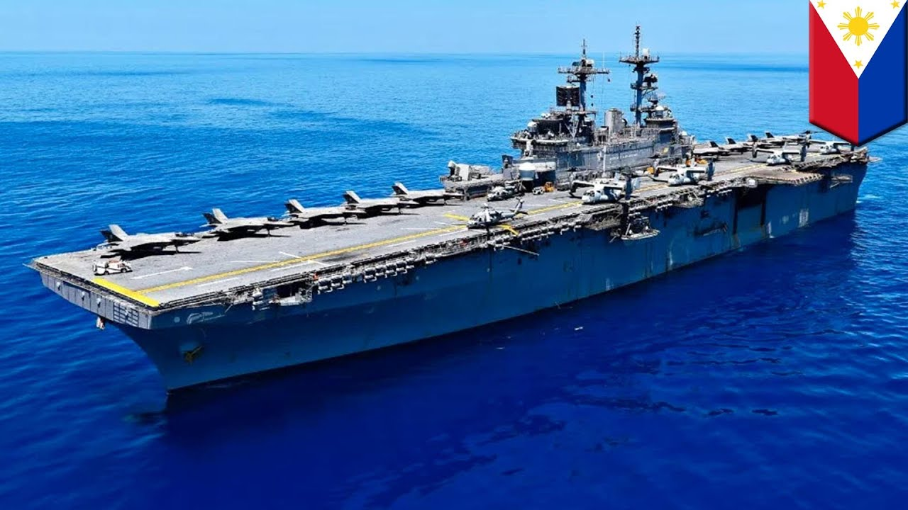 美國兩棲突襲艦「黃蜂號」 進入爭議水域訓練 - YouTube