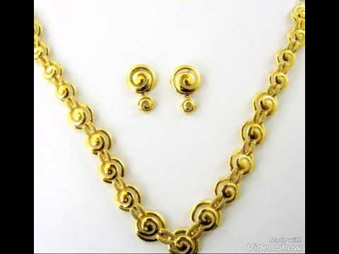 Gold casting necklace designs YouTube