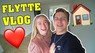 VI FLYTTER SAMMEN! | Flytte vlog m. Rebecca Charlotte Dahl