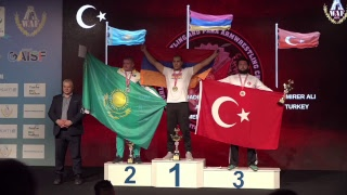 XL WORLD ARMWRESTLING CHAMPIONSHIP ANTALYA 2018 JUNIORS LEFT HAND FINALS