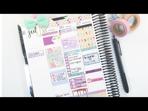 White Space Plan With Me/Last Week in July/Almost Plan As I go