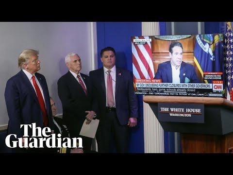 The coronavirus 'propaganda' video Trump played to media