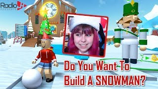 How To Build A Snowman In Roblox! RadioJH Games