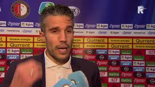 Van Persie over toekomst bij Feyenoord: 'We gaan relaxed kijken wat Feyenoord en ik willen'